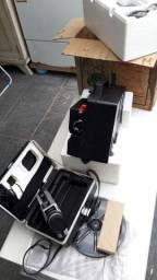 Projetor e filmadora 8mm