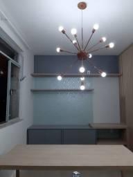 Lustre Sputnik com as lâmpadas de Led