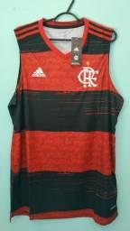 Camiseta do Flamengo Rubro Negra Masculina 2020/21