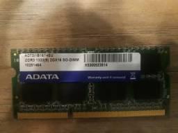 Memoria RAM so-dimm 2g 1333