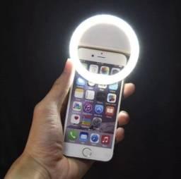 Título do anúncio: Ring light com três níveis de intensidade. Bateria interna recarregável. Luz  forte