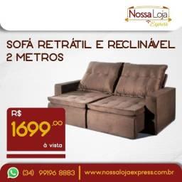 Título do anúncio: Sofá retrátil e reclinável - 2m novo