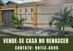 VENDE-SE CASA BEM LOCALIZADA NO BAIRRO RENASCER 1.