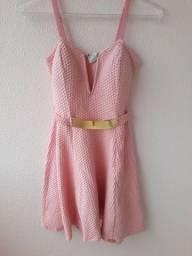 Título do anúncio: Vestido rosa de malha