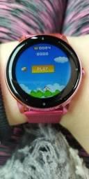 Smartwatch JRBL 2021 na cor Rosa! Pulseiras de brinde na cor rosa também!