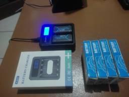 Carregador  + 2 Baterias 2500mah Xbox One