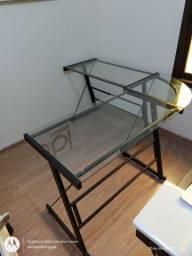 Mesa de vidro escritório tok stok
