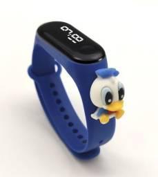 Relógio De Pulso Digital Infantil Disney Digimon À Prova D'Água Com LED-xiaomi