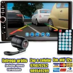 Central Multimídia Mp5 Espelhamento Bluetooth 2din Universal+ Câmera Ré