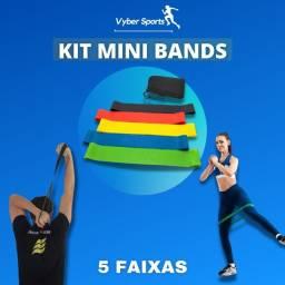 Título do anúncio: Kit Mini Bands - 5 Faixas elásticas - academia - yoga - Pilates.