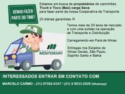 Título do anúncio: Fretes de Truck e Toco - baú carga Seca