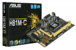 Placa Mãe Asus H81m-k Intel Soquete Lga 1150 Promoção
