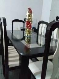 Mesa 6 cadeiras com Vidro