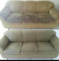 Lava sofá a seco.