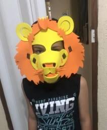 Máscara 3D Leão Infantil Adulto