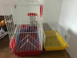 2 gaiolas Hamster + acessórios