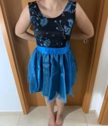 Vestido de festa- cor azul e preto