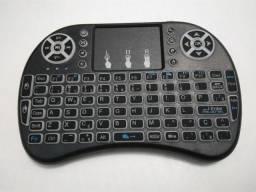 Mini teclado Wireless com lad p/ Smart TV e TV box com garantia em MARACANAÚ