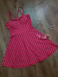 Vestido Rosa Listrado