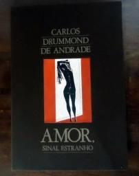Livro Amor, Sinal Estranho - Drummond - rarissimo - completo