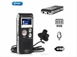Gravador de Voz Digital Kp-8011 Knup Espião 8gb Com Fone de Ouvido