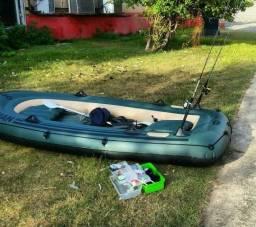 Bote inflável fishman 350 para 3 pessoas