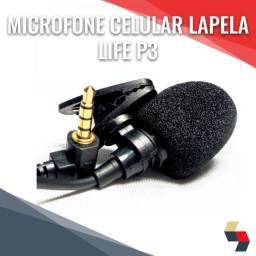 Microfone Celular Lapela Life P3
