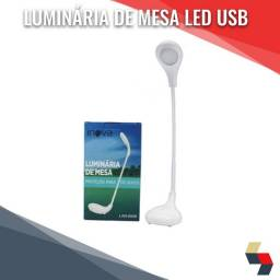 Luminária de mesa 360° LED proteção ocular USB