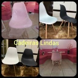 Cadeiras Lindas Cores (Rosa, Branca e Preta)