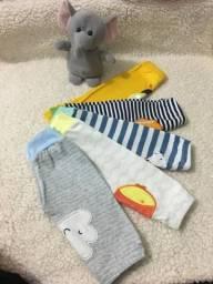 Calças bebê menino 0 a 3 meses