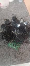 Baterias e carregadores antigos