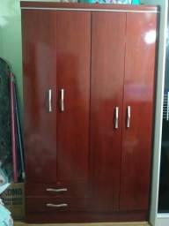 Guarda roupas Bartira 4 portas cor mogno