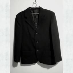 Vendo terno preto masculino (paletó + calça) (tamanho 40)