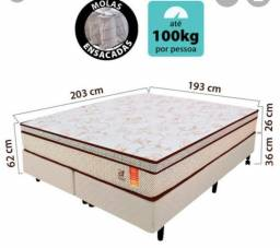 Vendo cama king box preta