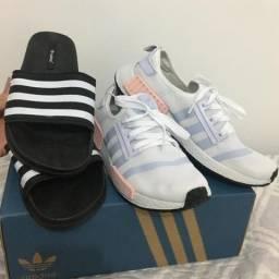 Tênis+chinelo adidas