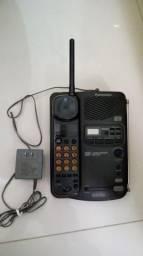 Telefone sem fio e secretaria eletronica panassonic