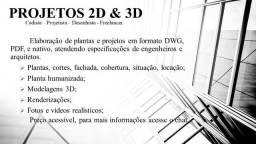Cadista/Projetista/Modelador 3D/Free-Lancer