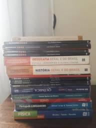Pacote de livros didáticos para os 3 anos do Ensino Médio