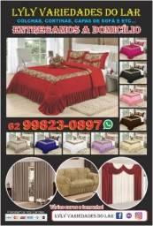 Cortinas,colchas,saia box , lençol,varão ,capas sofá,etc