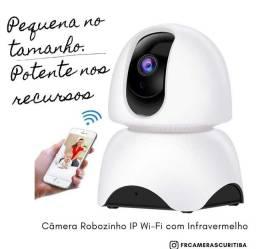 Câmera IP interna robozinho Wi-Fi visão noturna