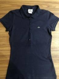 Camisa polo lacoste azul marinho original