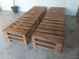 4 Estruturas Pallet 1x0,6x0,15 Sofa Cama Casal Solteiro