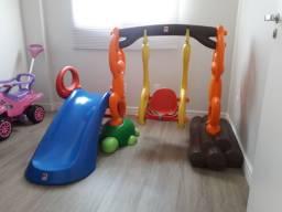 PARQUINHO INFANTIL BANDEIRANTE BALANÇO + ESCORREGA