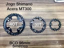 Título do anúncio: Shimano jogo de coroas Acera MT300
