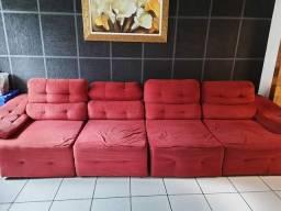 vendo  sofá  de suede