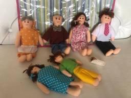 Bonecas de pano Família