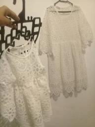 Vestido tal mãe tal filha branco