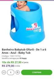 Título do anúncio: Ofuro Babytub azul 1 a 6 anos