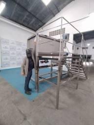 Misturador de Pó Industrial Ribbon Blender 1000 litros