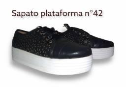 Sapato Plataforma Preto N°42